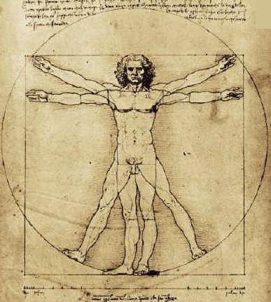 Leonardo da Vinci, Studio delle proporzioni,<br> l'uomo di Vitruvio (1452-1519)
