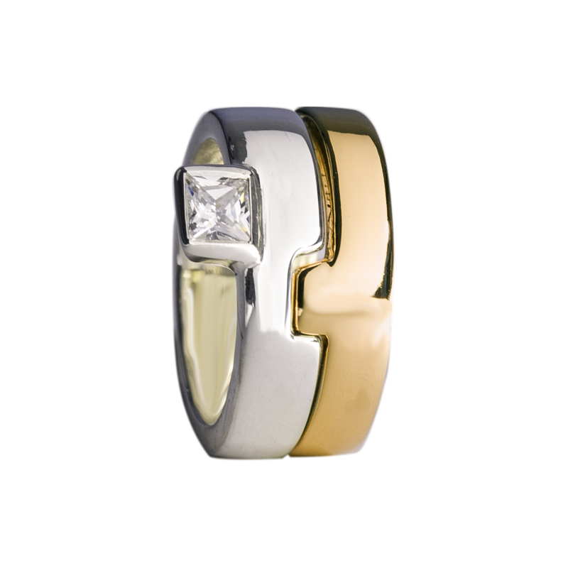 Bague puzzle vermeil or jaune oxyde de zirconium for Portent in crossword