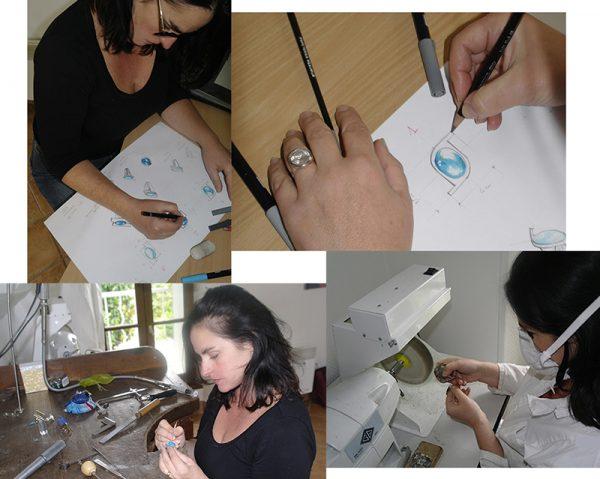 Doamabijoux, les phases de création du bijou