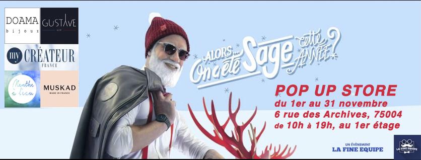 Doamabijoux et MyCreateur avec la Fine Equipe Pop Up Store à Paris