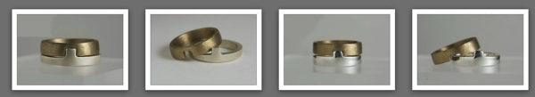 Doamabijoux bagues Puzzle pour homme bronze et argent massif