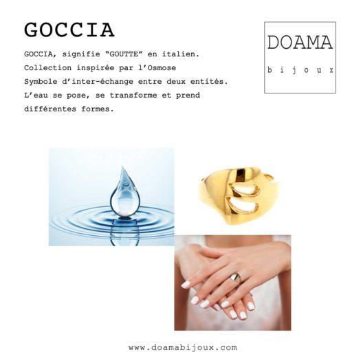 Doamabijoux Bracelet GOCCIA plaqué or jaune