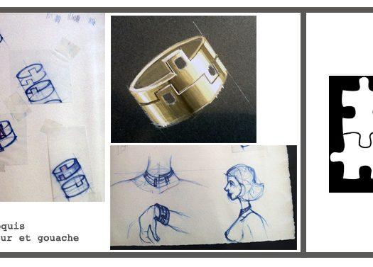 Doamabijoux, collection PUZZLE, bague ludique et encastrable, symbole d'engagement.