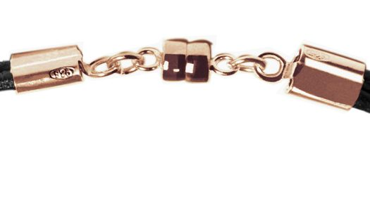 Bracelet MATER vermeil rose fermeture aimantée, soudée au laser