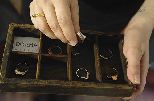 Collection SCALA, bagues argent et vermeil, Doamabijoux