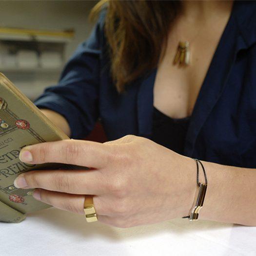 Bracelet SCALA Mini 3C argent et vermeil or jaune et or rose